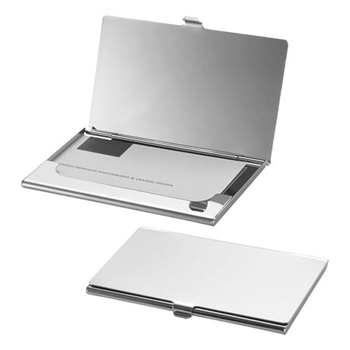 Stainless Steel Business Cards Holder with Mirror Finish