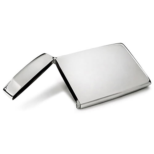 Steel Flip Top Business Card Holders