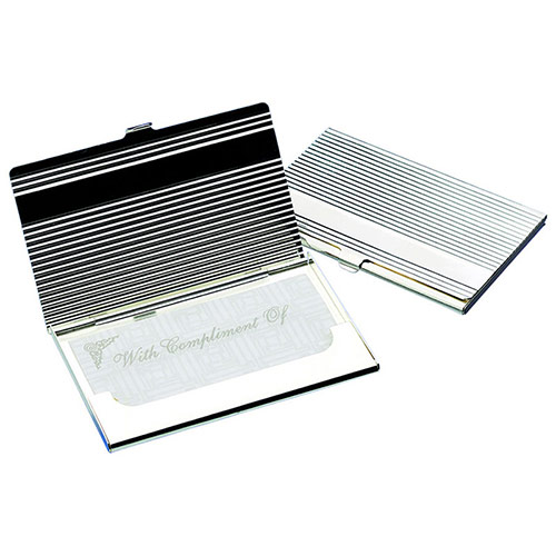 Fluted 'Bar' Business Card Case