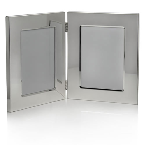 Silver Plated Double Photo Frames (3.5x5in)