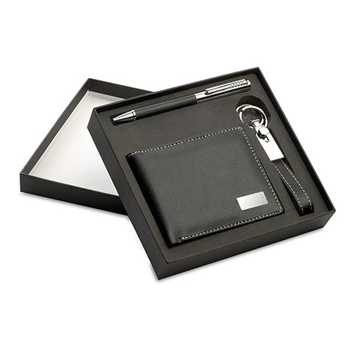 Metal & Leather Business Gifts Set