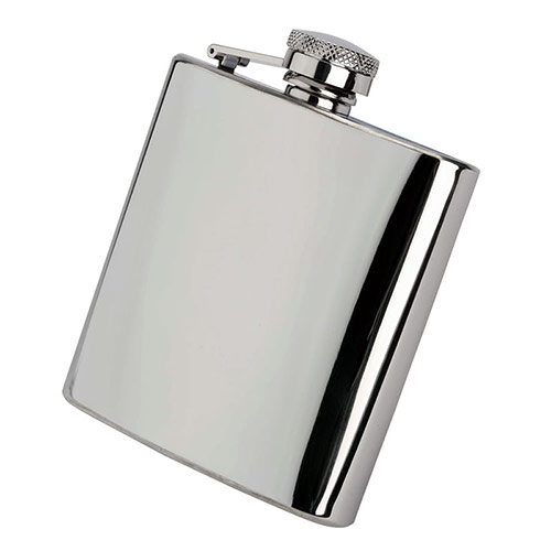 Classic 6oz Stainless Steel Hip Flask with Box