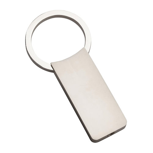 Promotional Metal Keyring with Rectangular Fob