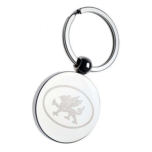Chrome Plated Disc Keyring