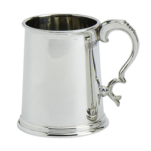 One Pint Pewter Tankard with Whitbread Handle