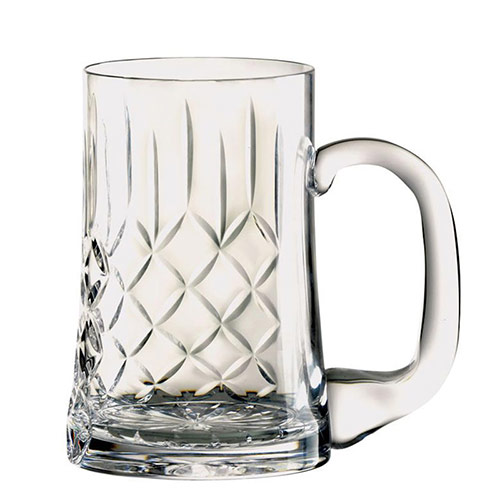 Boxed Decorated Crystal Tankard