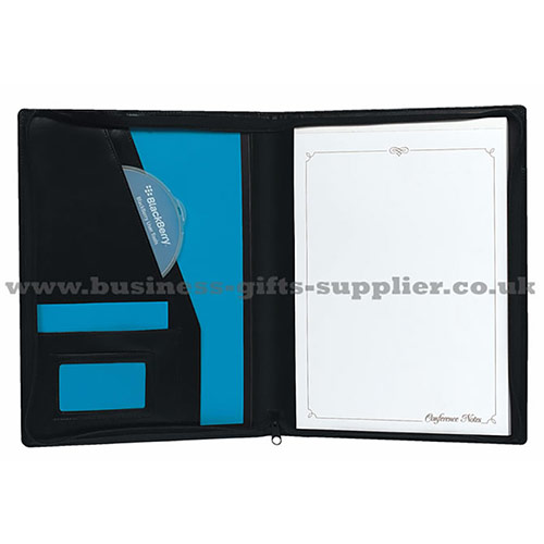 Leather Zipped Conference Folder (A4)