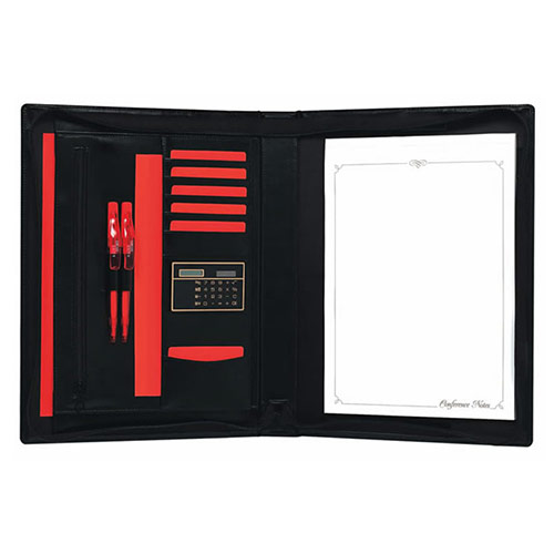 Executive Leather Zipped Conference Folder (A4)