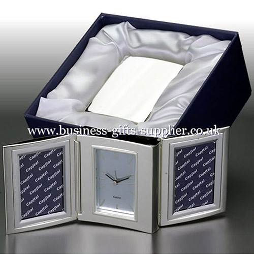 Gift Set with Folding Clock & Photo Frames