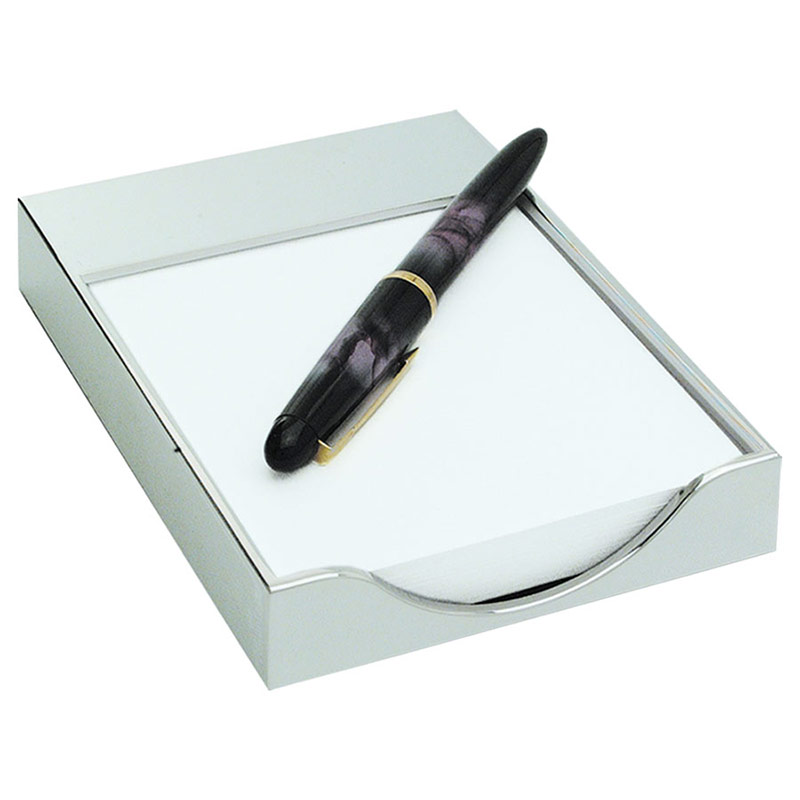Silver Plated Memo Pad Holder