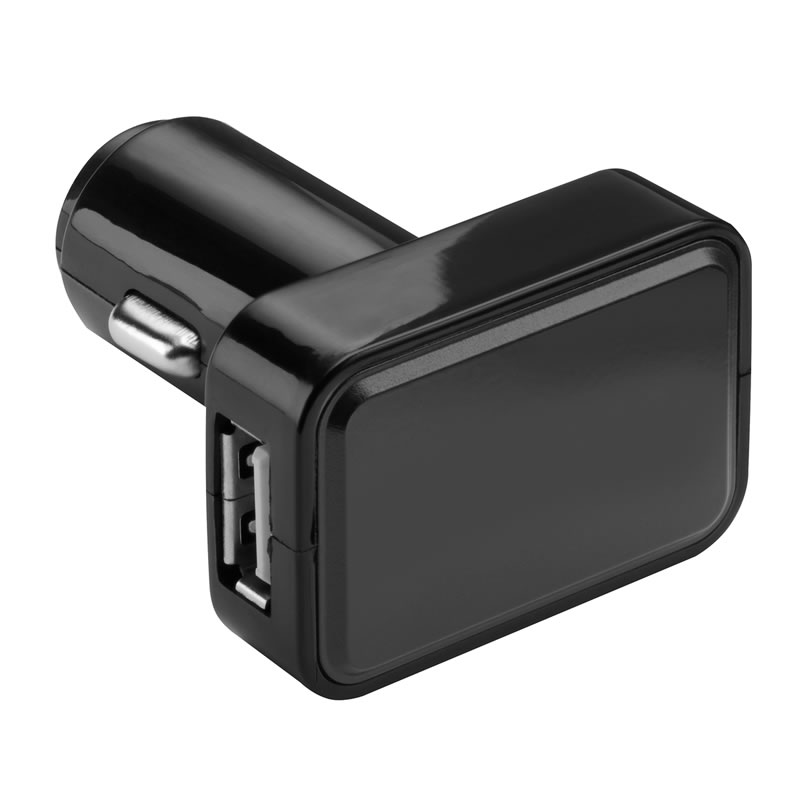 USB Car Charger with Illuminated Branding Space