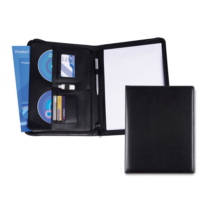 Belluno Leather Deluxe A4 Zipped Conference Folder