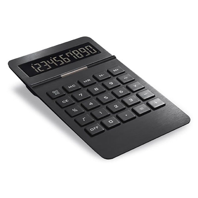 Solar Calculator with Black Metal Casing