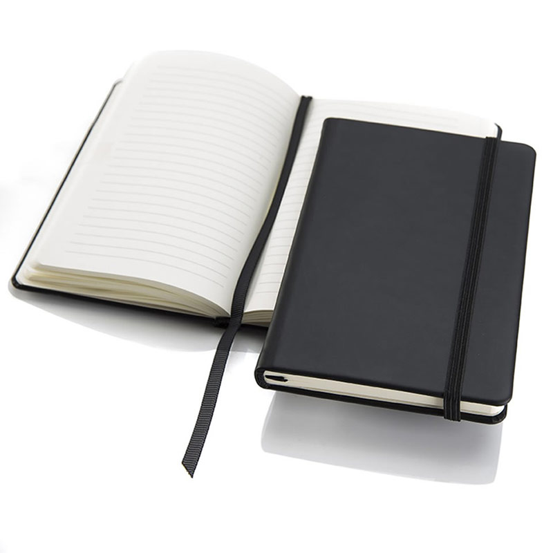 Black Torino Pocket Casebound Notebook with a Strap