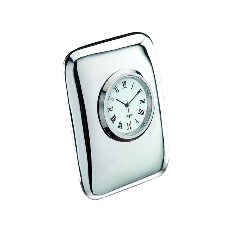 Silver Plated 'Tiffany' Desk Clocks