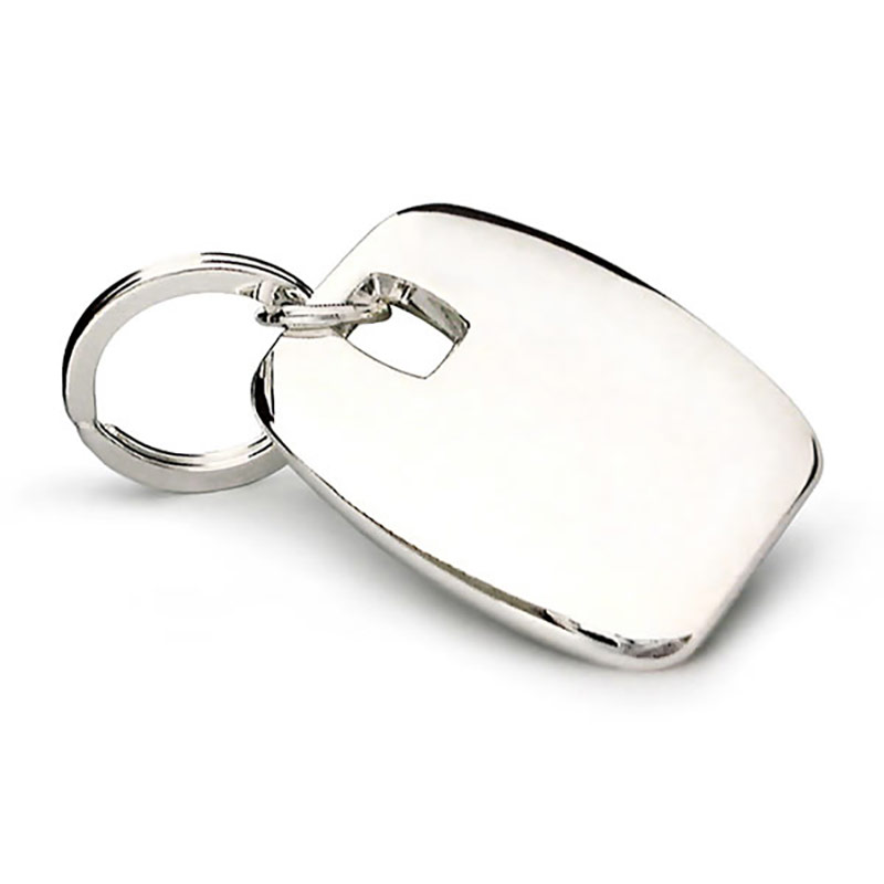 Silver Plated Square Shape Keyrings