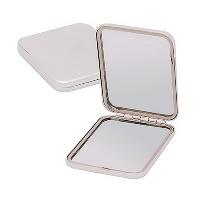 Silver Plated Purse Mirror