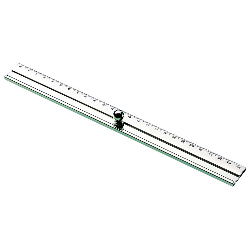 Personalised Silver Plated Ruler with Handle