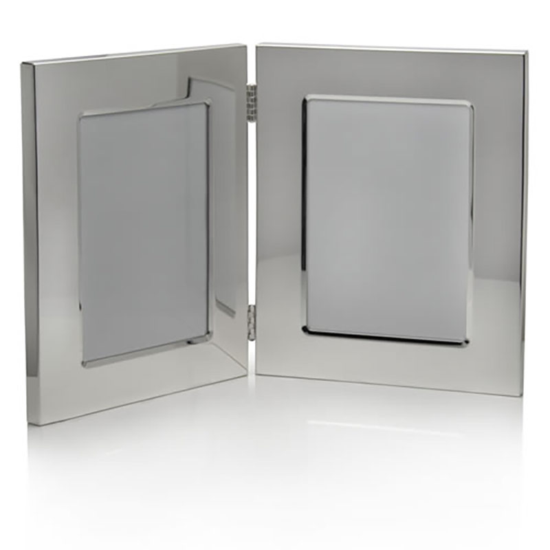 Silver Plated Double Photo Frames 3 5x5in Business Gifts Supplier