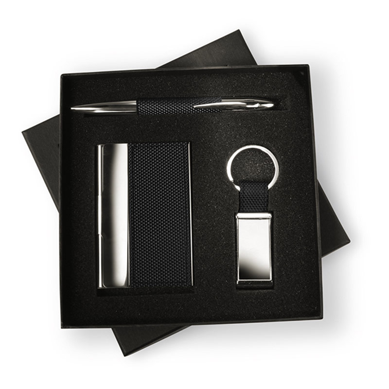 Business Gift Set with Pen, Card Case & Keyring