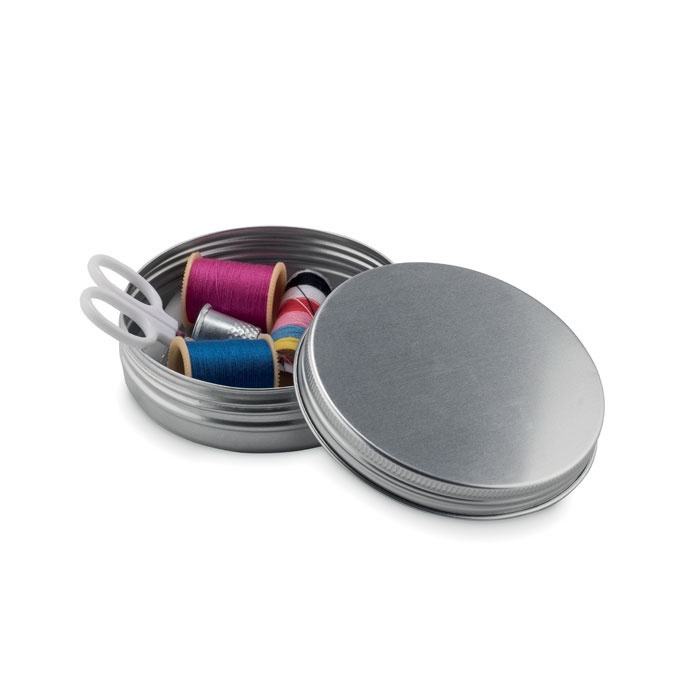 Small Circular Tin Sewing Kit