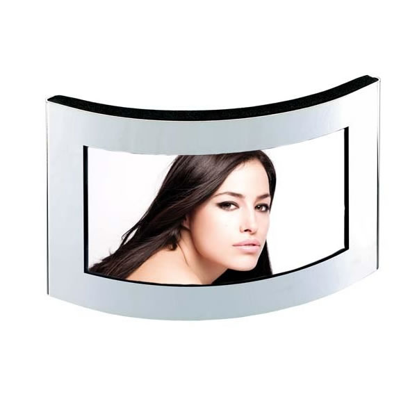 Silver Plated Curved Picture Frame