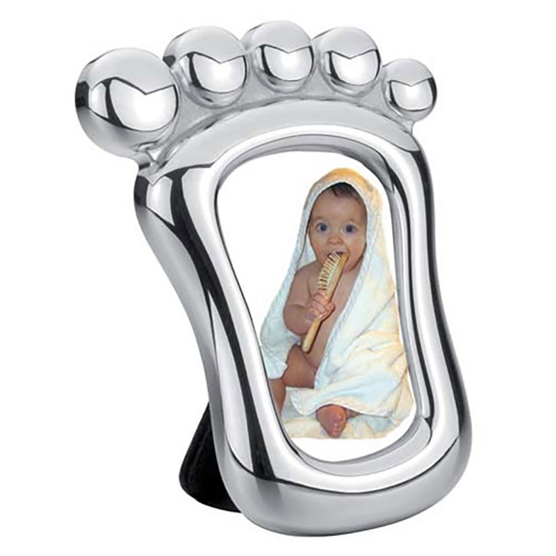 Silver Baby Foot Photo Frame