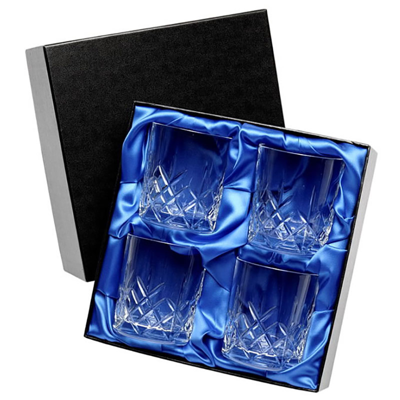 Set of 4 Whisky Glasses in Presentation Box