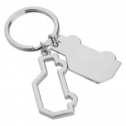 Promotional Silver Metal Car Shape Keyfob