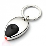 Silver Plated Keyring with Torch
