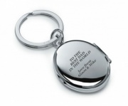 Silver Plated Keyring with Photo Frame