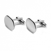 Personalised Silver Plated 'Oval' Cufflinks