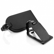 Belluno Leather Luggage Tag with Flap (Small)