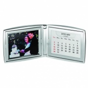 Silver Photo Frame with Perpetual Calendar