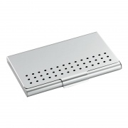 Promotional Engraved Business Cards Case with Pierced Lid