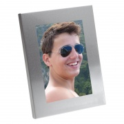 Engraved Aluminum Photo Frame 6x4in