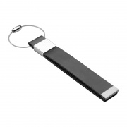 Slim Leather & Metal Luggage Tag