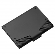 Mesh Business Cards Case with Black Metallic Finish