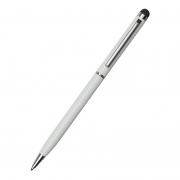 Promotional White Ballpoint Pen with Tablet Stylus