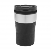 Branded Stainless Steel Travel Mug with Black Finish