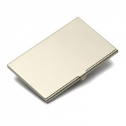 Matt Silver Business Card Holders