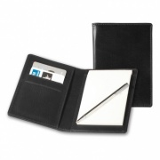 Belluno Leather Pocket Jotter with Card Pockets and Pen