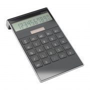 Promotional Solar Powered Calculator in Black Finish