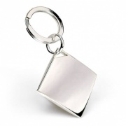 Silver Plated Diamond Shape Keyrings