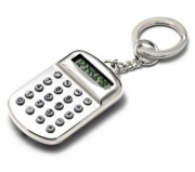 Silver Plated Keyring with Calculator