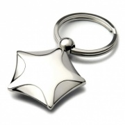 Nickel Plated Star Keyring