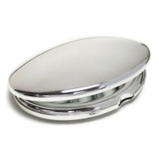 Silver Plated Oval Purse Mirrors