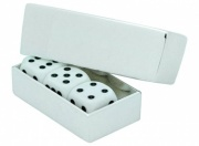 Dice Game with Silver Plated Case