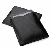 Ipad or Tablet Sleeve in Black Belluno Leather
