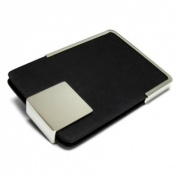 Leather & Silver Plated Card Holder